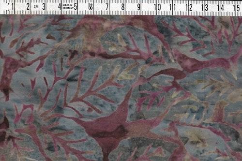 Dovt grön bakgrund med dova brun-burgundy färgade växter