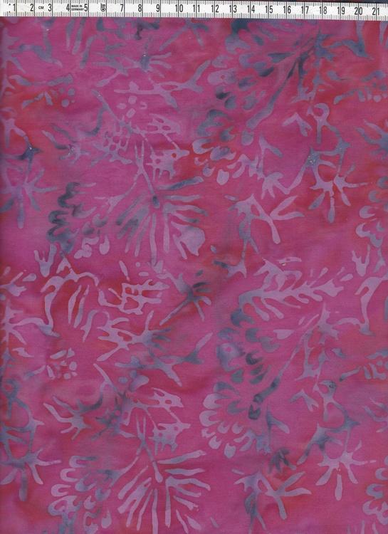 Cerise och röd bakgrund med mörkgrå-lila växter