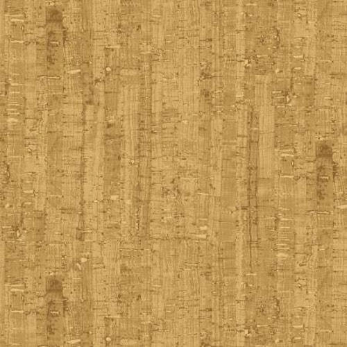 Ej Batik! Extra bred med korktryck i gulbeige, 100% bomull, 275 cm bred. Windham Fabrics