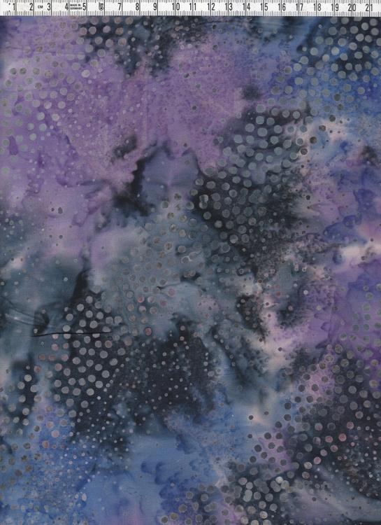 Lila-blå-svart bakgrund med diagonala stråk av prickar