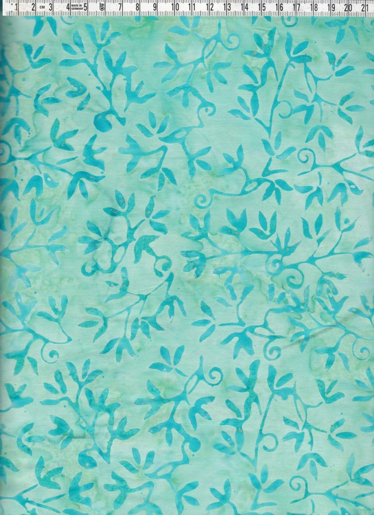 Ljuvligt bomullstyg i gröna färger. Design by Bali