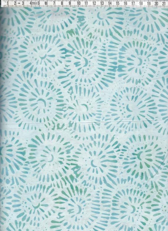 Grönturkosa färger och trevligt mönster. Bomullsbatik