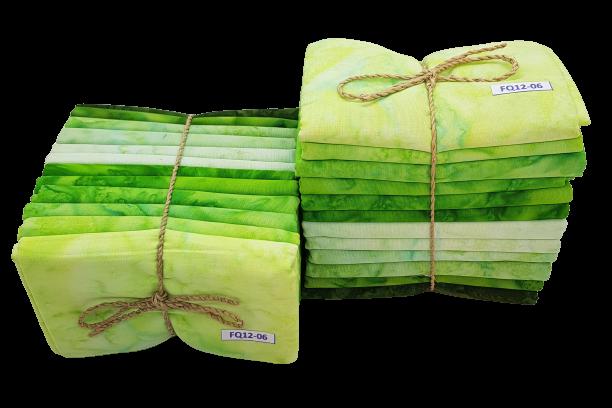 Grön melerad FQ-bunt 12 st