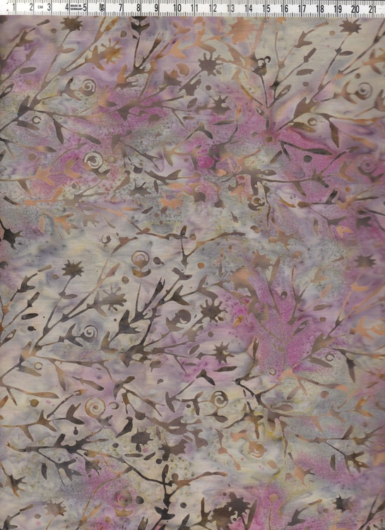 Grön-beige-rosa färger och trivsamt växtmotiv