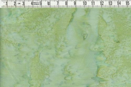 Härligt grönmelerat bomullstyg. Bredd 110 cm
