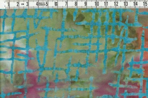 """Flerfärgat med """"plockepinn"""" mönster. Bomullsbatik"""