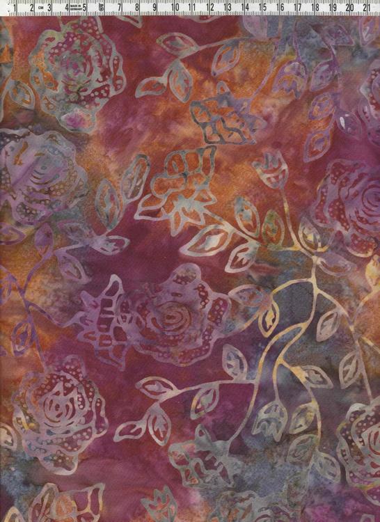 Rosor & bladverk på mustig bakgrund i fylliga nyanser
