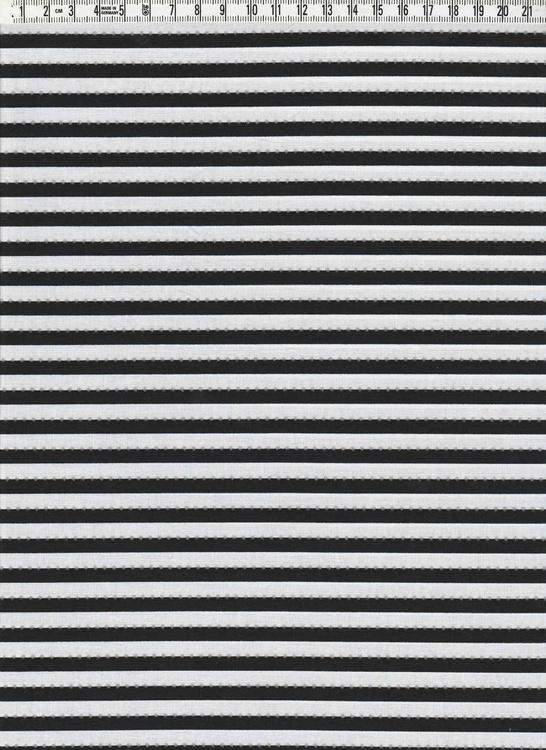 Smalrandig Anthology svart & vit med silverprickar, 110 cm bred