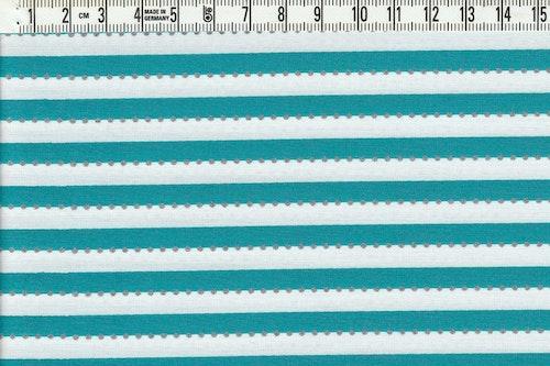 Anthology. Smalrandig grönblå & vit med silverprickar, 110 cm bred