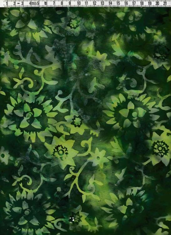 Magnifik grön med grönt tryck