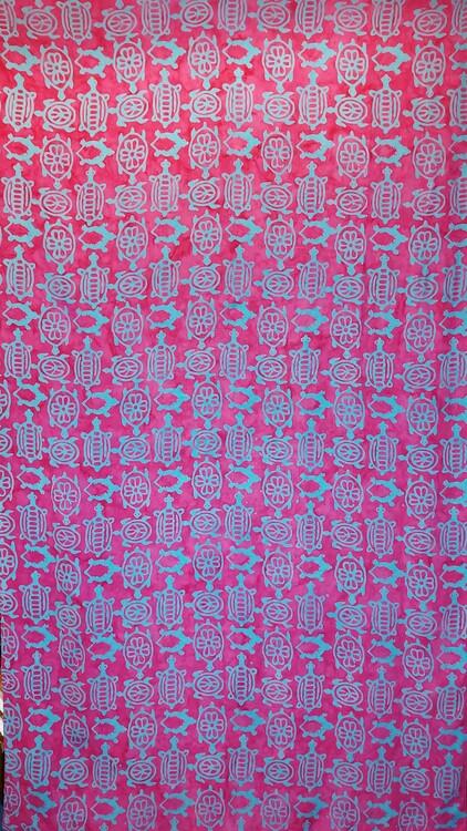 Sarong Batik / tyg viskos ca 110 x 200 cm