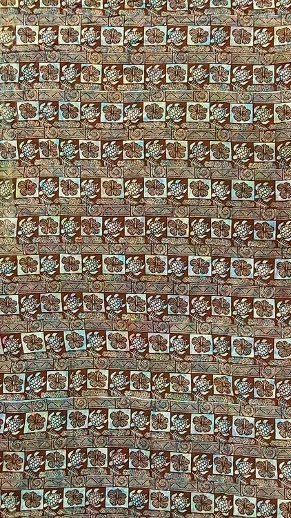 Sarong Screentryck på melerat. / tyg viskos ca 110 x 200 cm