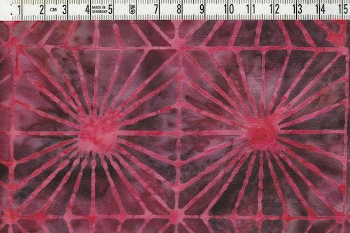 Ceriserött & rödrosa & mörka färger. Balibatik. 110 cm bred