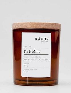 Ekologiskt doftljus energy Fir & Mint