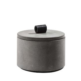 Betongskål med lock antracit