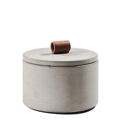 Betongskål med lock ljusgrå