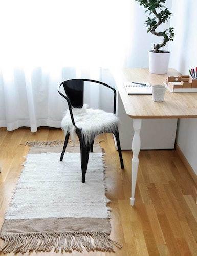 Matta bomull/jute, återvunnen textil
