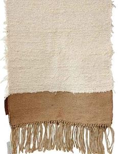 Matta bomull och jute, återvunnen textil