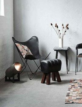 Pall Lima naturgarvat läder, svart