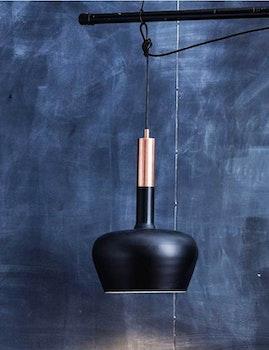 Taklampa återvunnen metall, svart/koppar