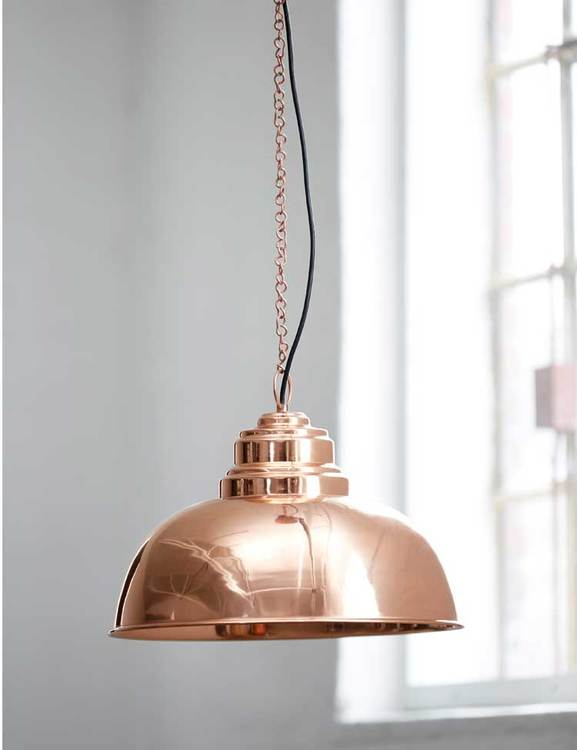 Taklampa återvunnen metall kopparfärgad