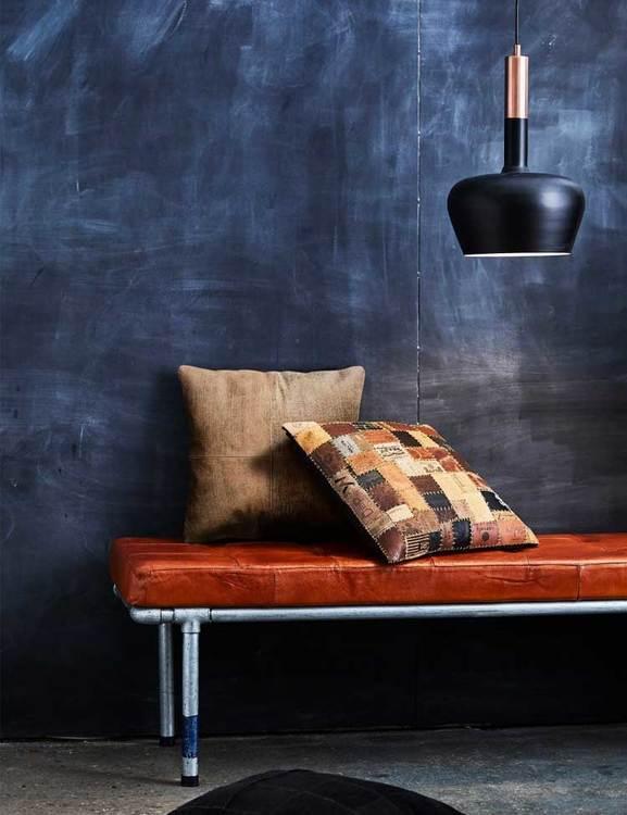 Dagbädd / bänkg naturgarvat läder, brun.
