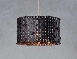 Lampa återvunnet läder, svart