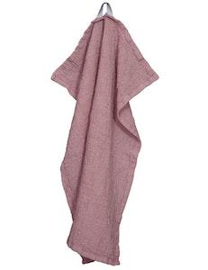 Handduk lin och ekobomull rosa