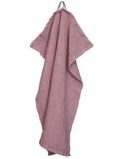 Handduk linne och ekologisk bomull rosa