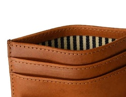 Korthållare naturgarvat läder, cognac