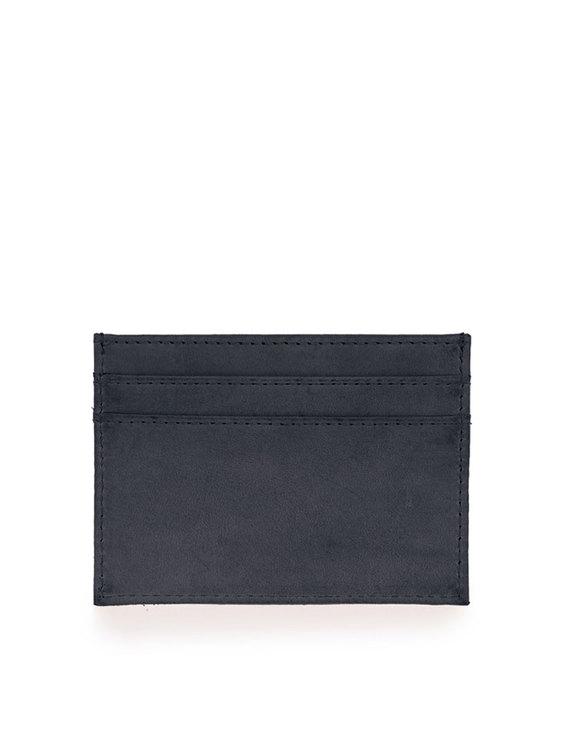Marks korthållare naturgarvat läder, svart