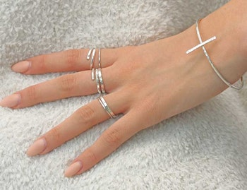 Armband Kors återvunnet silver