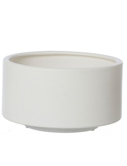 Skål   kruka keramik, vit