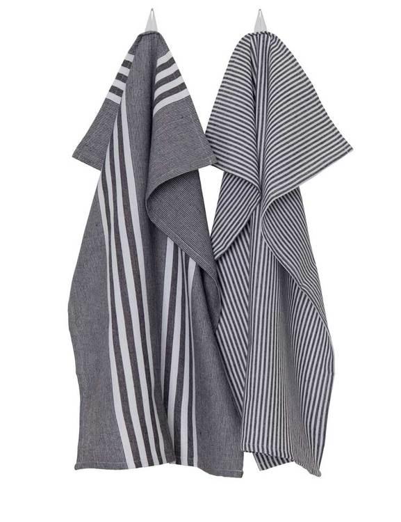 2-pack handdukar mörkgrå, återvunnet