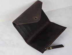 Plånbok brun naturgarvat läder