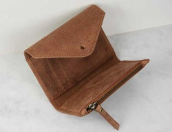 Plånbok camel naturgarvat läder