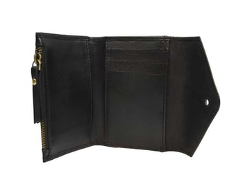 Plånbok svart naturgarvat läder