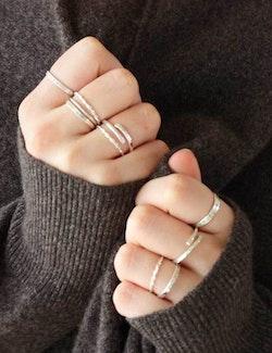 Handgjorda silverringar - Ring Wrap återvunnet silver