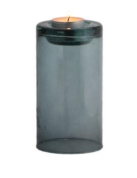 Stor ljuslykta återvunnet glas, petrol