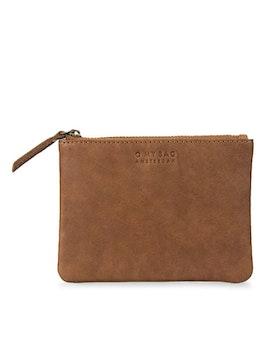 Liten plånbok naturgarvat läder. brun