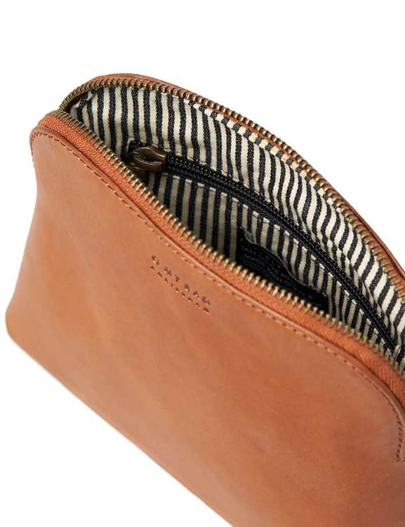 Snygg sminkväska naturgarvat läder, O My Bag