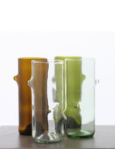 Vas återvunna glasflaskor, liten
