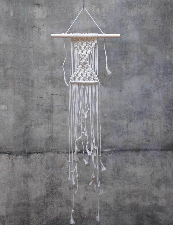 Väggbonad DIY, makramé från Frosta Design