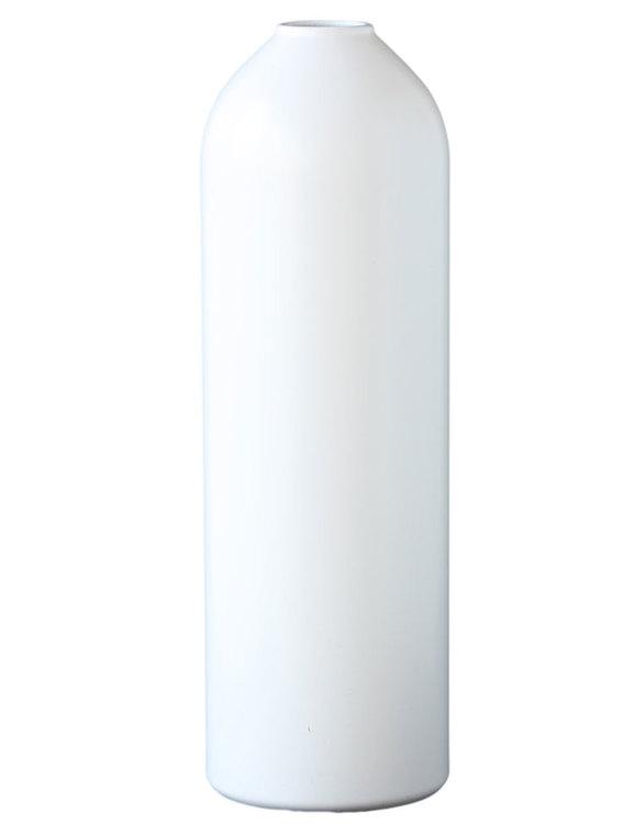 Vas eller ljusstake av brandsläckare, vit