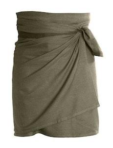 Förkläde ekologisk bomull brun