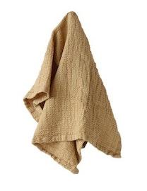 Handduk lin och ekobomull gul