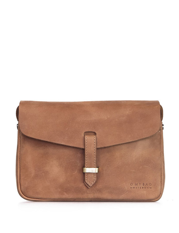Flap-bag Ally Midi, naturgarvat läder