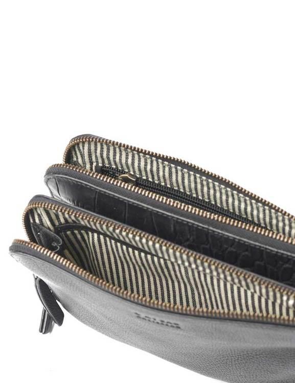 Axelremsväska Lola croco, naturgarvat läder