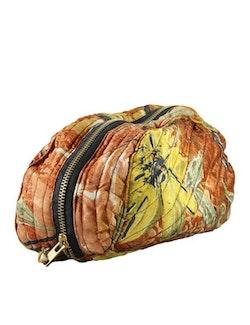 Sminkväska   necessär storblommig återvunna sari