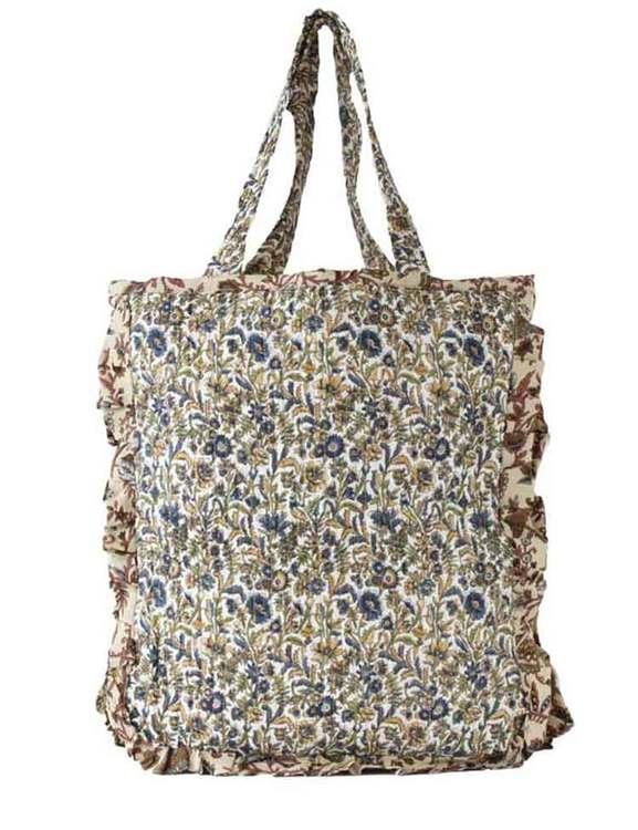 Väska av återvunna sari
